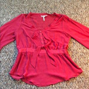 Bcbg generation loose cami long sleeve blouse